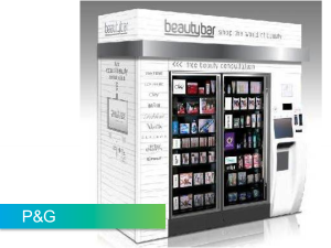 P&G enables customers to talk to a live expert from their vending machine in the mall